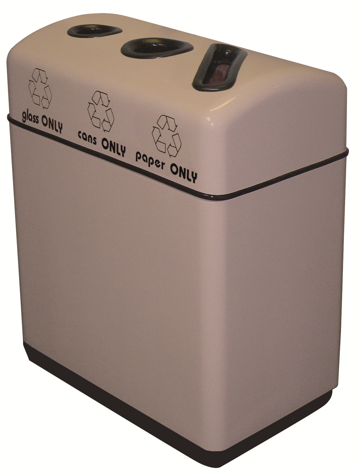 3 Opening Fiberglass Recycling Containers