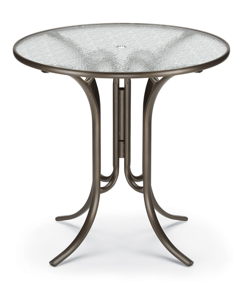 """42"""" Round Acrylic Top Counter Height Table"""