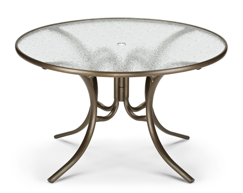 "42"" Round Acrylic Top Dining Table"