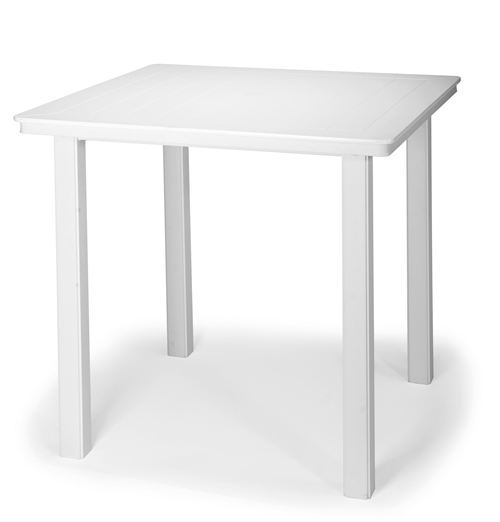 "42"" Square Marine Grade Polymer Top Bar Height Table"