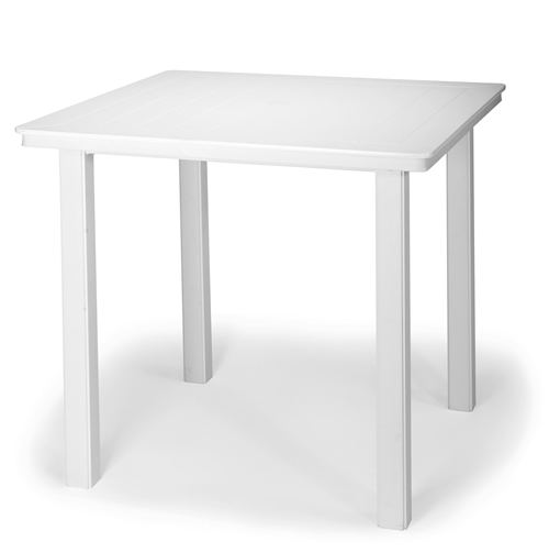 "42"" Square Marine Grade Polymer Top Counter Height Table"