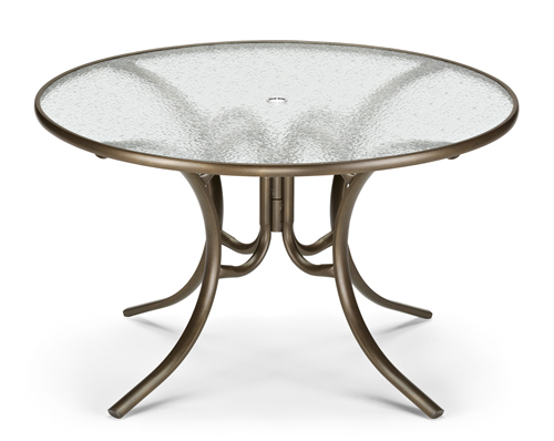 "48"" Round Acrylic Top Dining Table"