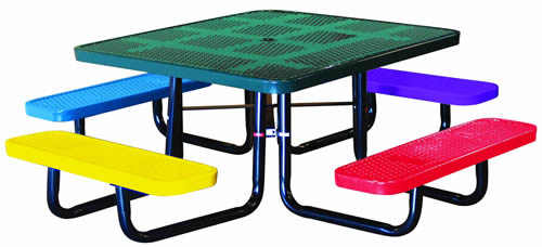 "46"" Children's Square Perforated with Seats"