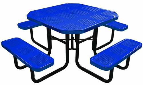 """46"""" Octagonal Perforated with Seats"""