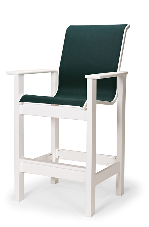 Leeward Sling Counter Height Stationary Arm Chair