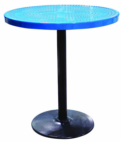"36"" Perforated Pedestal Table"