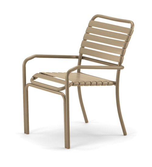 Clearwater Double Wrap Strap Stacking Arm Chair