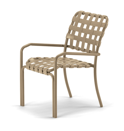 Clearwater Cross Strap Stacking Arm Chair