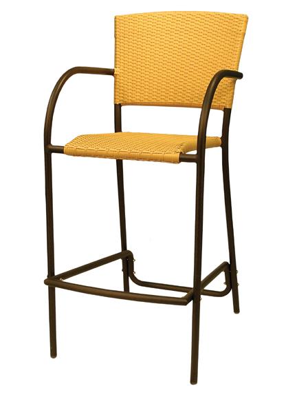 Aruba II Barstool Chair - Cappuccino, Natural, Expresso Flat Weave