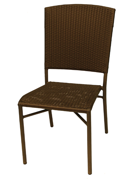Aruba II side Chair - Cappuccino, Natural, Expresso Flat Weave