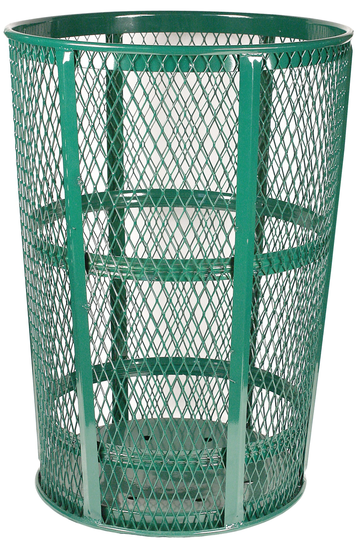 48 Gallon Green Expanded Metal Receptacle