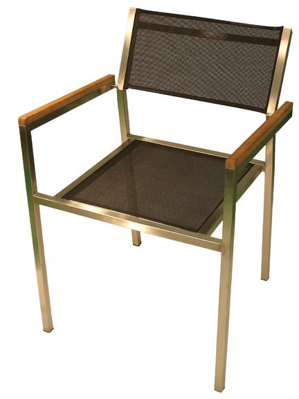 Elegance Stainless Textilene Arm Chair