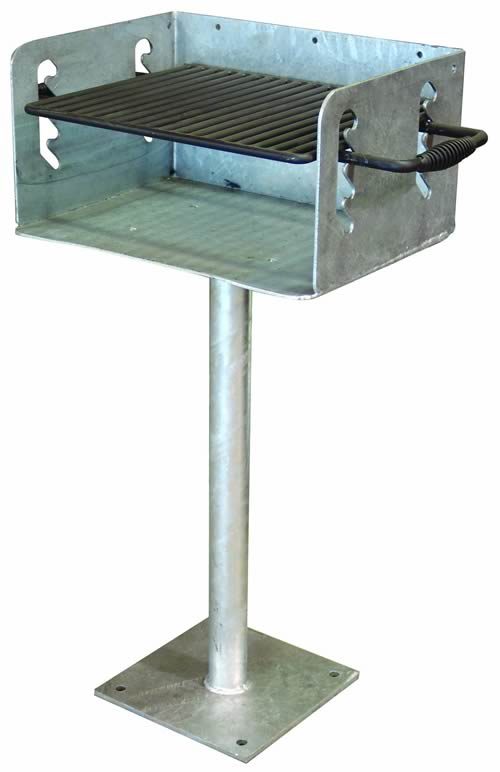 Surface Mount Galvanized Base Only