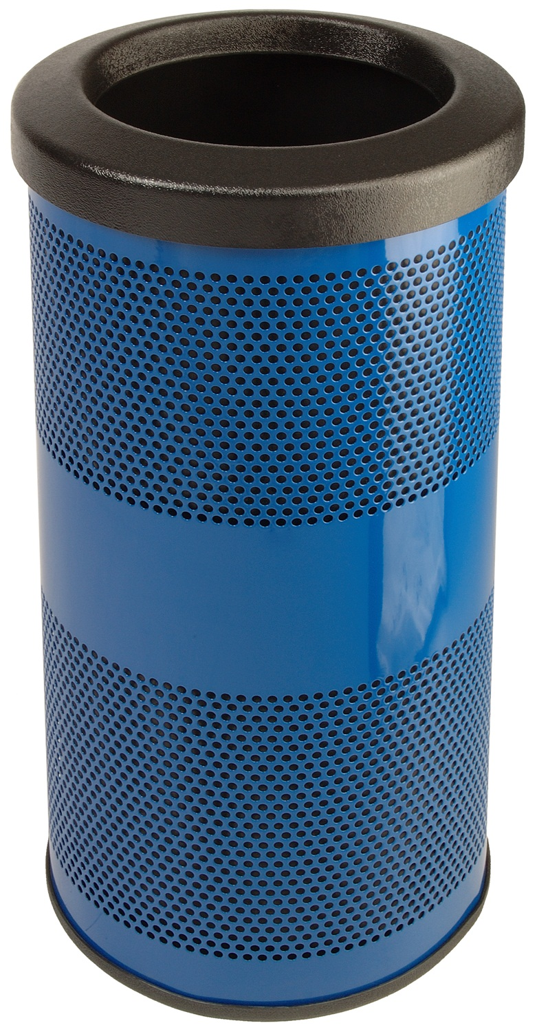 Outdoor Perforated Steel Receptacle