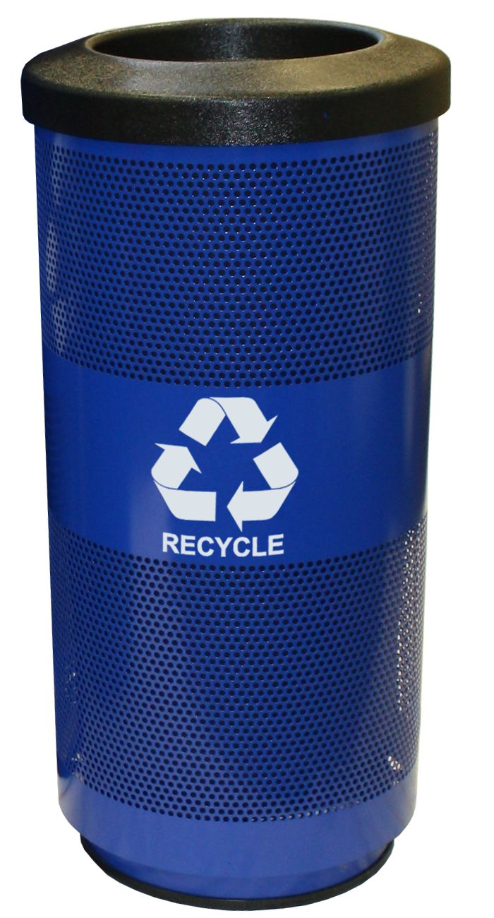 Perforated Recycling Receptacle