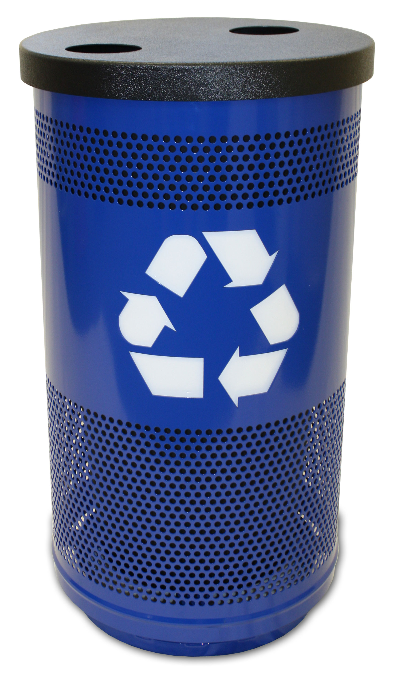 Outdoor Perforated Recycling Receptacle