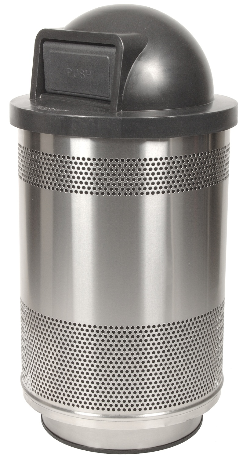 Dome Lid Perforated Receptacle
