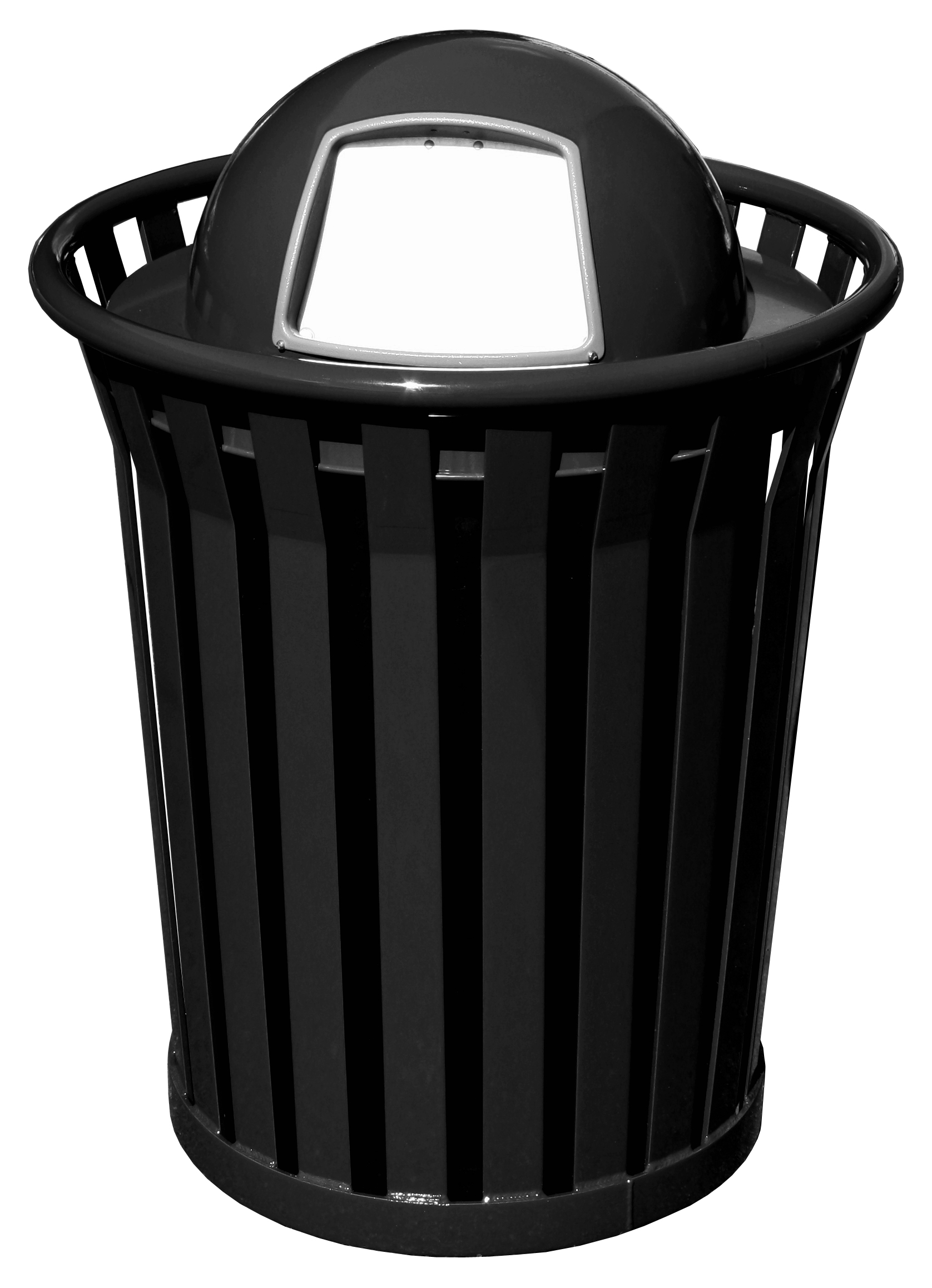 Dome Top Lid Trash Receptacle