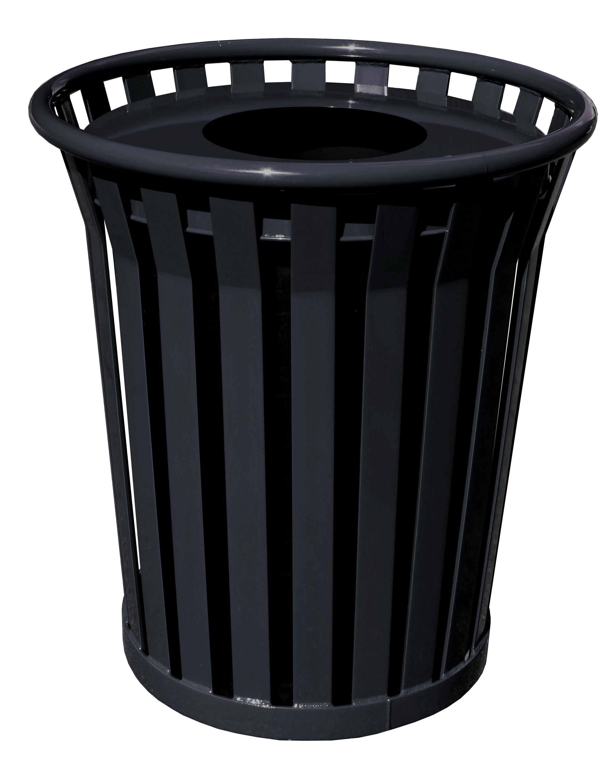 Flat Top Lid Trash Receptacle