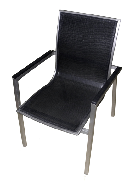 Elegance Aluminum Floating Seat Textilene Arm Chair