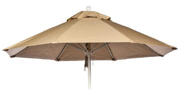 9' Octagon Wood  Rib Market Umbrella
