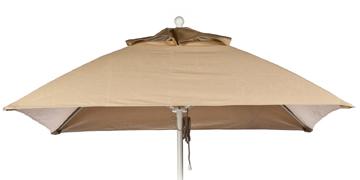 6.5' Square Fiberglass  Rib Market Umbrella