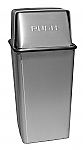 Pushtop Stainless Steel Receptacle