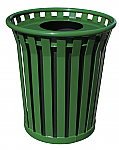 Green Flat Top Receptacle