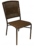 Aruba I Side Chair - Expresso Round Weave
