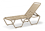 Clearwater Double Wrap Strap Stacking Armless Chaise