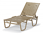 Reliance Strap Stacking Armless Chaise Lounge