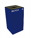 Indoor Square Recycling Receptacle