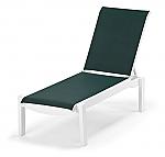 Leeward Sling Armless Chaise w/ wheels
