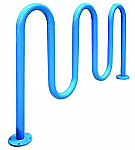 "Wave Bike Racks in 2 3/8"" Diameter"