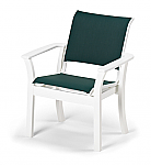 Leeward Sling Stacking Flare Café Chair