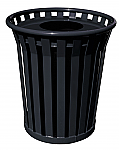 Flat Top Lid Trash Receptacle
