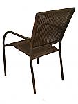 Aruba I arm chair (Expresso round weave)