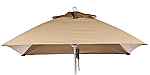 7.5' Square Aluminum  Rib Market Umbrella