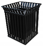 Trash receptacle with flat top, Outdoor