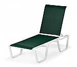 Fortis Sling Stacking Armless Chaise
