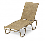Reliance Sling Stacking Armless Lay-Flat Chaise