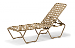 Clearwater Cross Strap Stacking Armless Chaise