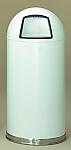 20 Gallon White Dometop Receptacles