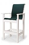 Leeward Sling Bar Height Stationary Arm Chair