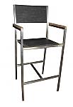 Elegance Stainless Textilene Barstool Chair