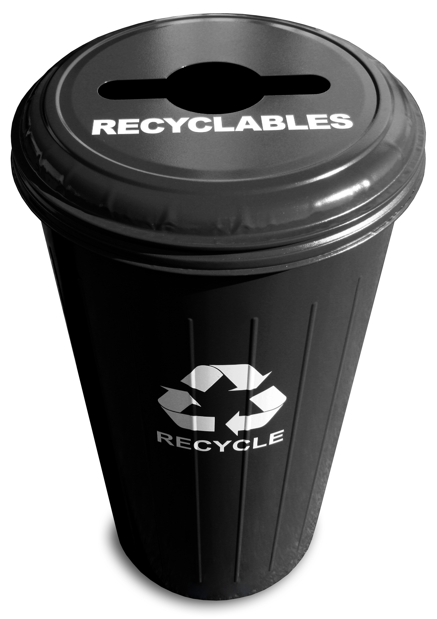 Tall Round Recycling Wastebasket